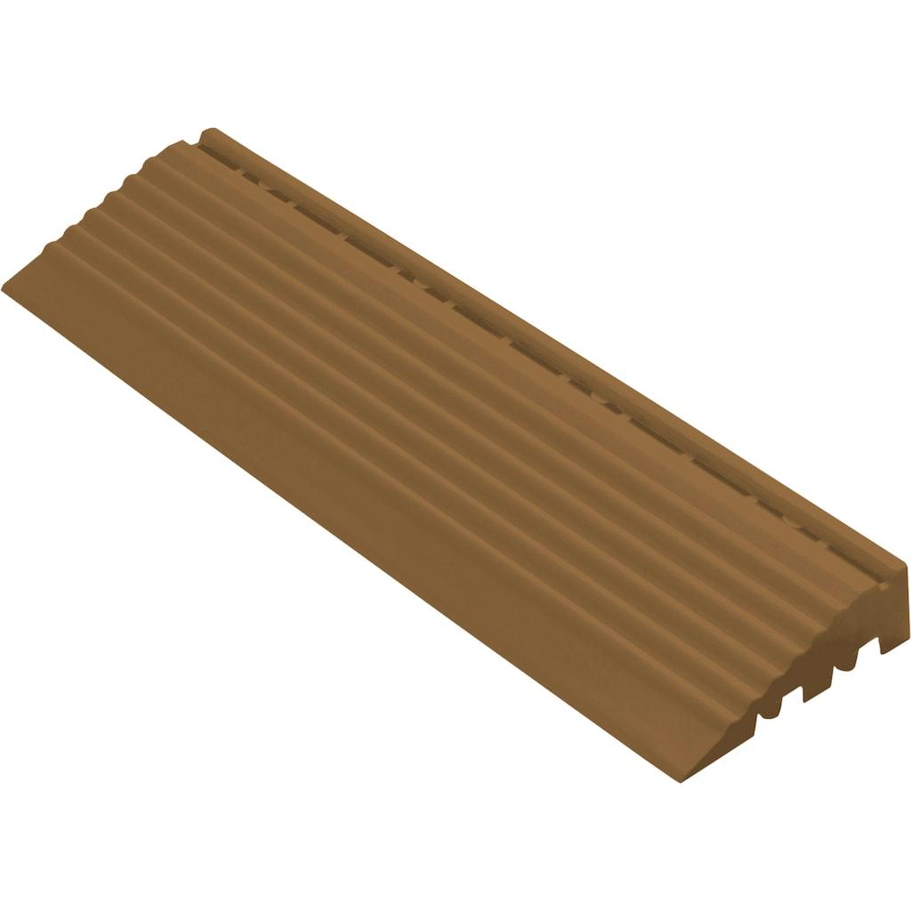 florco® Klickfliesen-Kantenleiste, Seitenteil braun mit Öse, 30 cm