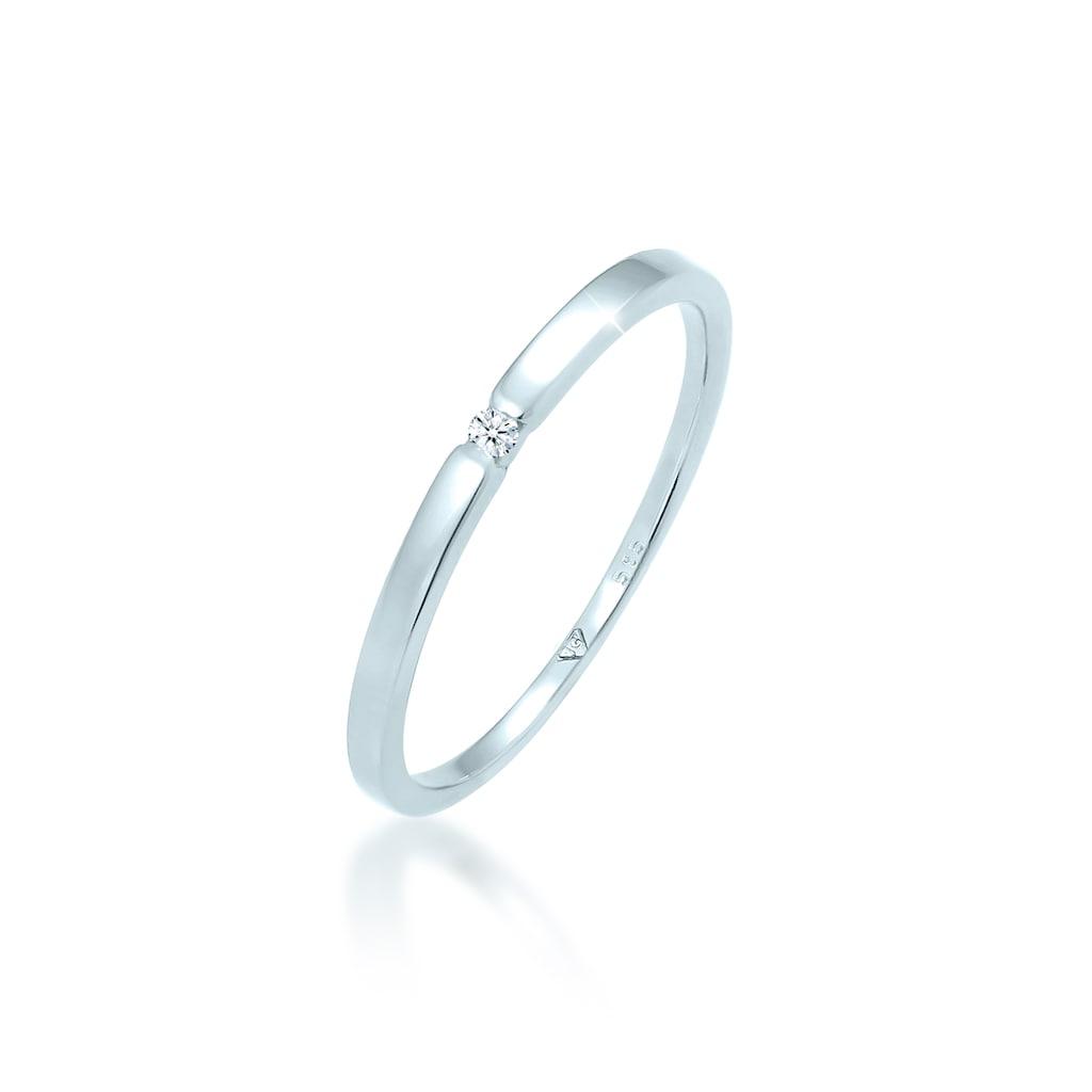 Diamore Diamantring »Verlobungsring Diamant (0.015 ct.) 585 Weißgold«
