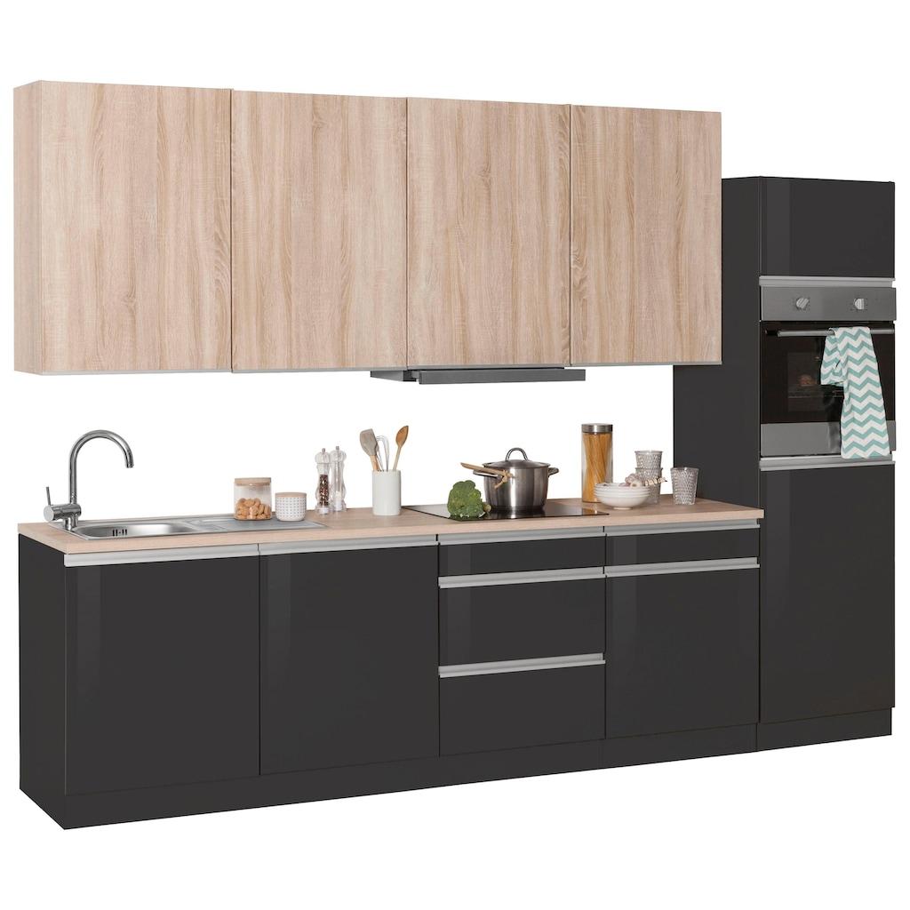 HELD MÖBEL Küchenzeile »Ohio«, mit E-Geräten, Breite 300 cm