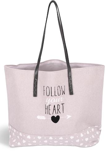 Franz Müller Flechtwaren Einkaufsshopper »Follow your Heart«, Groundwood kaufen