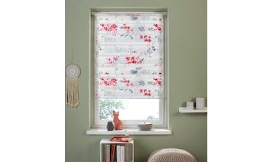 Doppelrollo »Fleur«, my home, Lichtschutz, ohne Bohren, freihängend kaufen