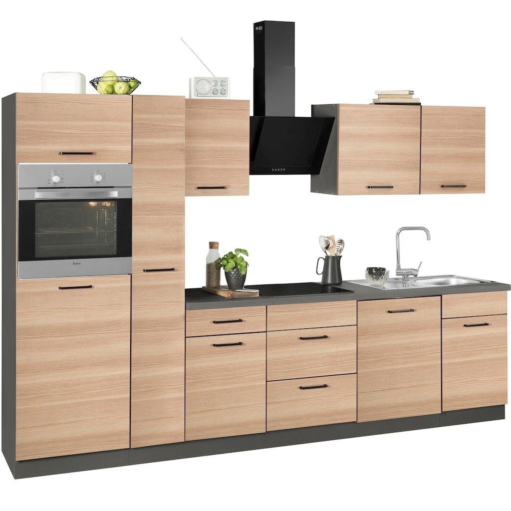 wiho Küchen Küchenzeile »Esbo«, mit E-Geräten, Breite 310 cm