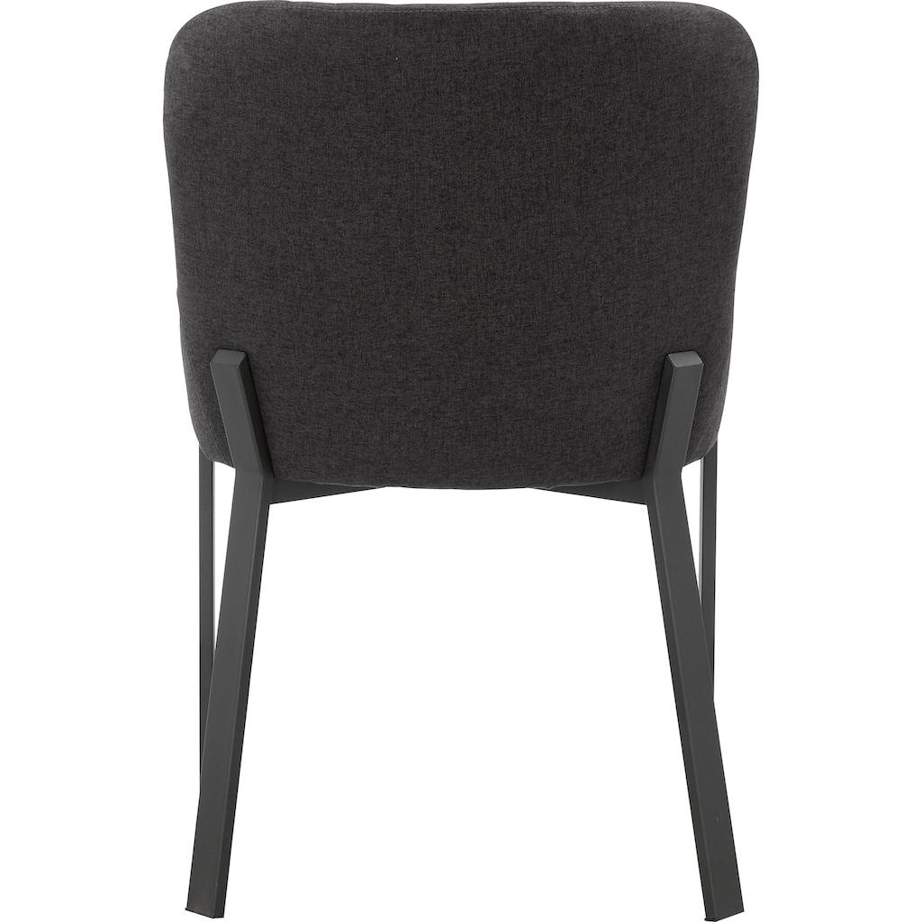 Places of Style Esszimmerstuhl »Medford«, 2er-Set, Sitz und Rücken gepolstert, modernes Design