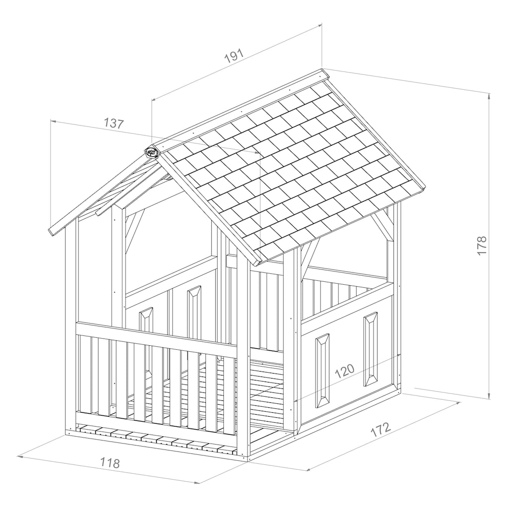 AXI Spielhaus »Forest«, BxTxH: 137x191x178 cm