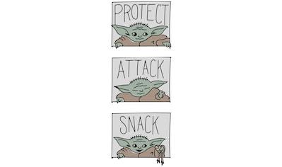 KOMAR Wandbild »Mandalorian The Child Protect Attack Snack«, PVC - frei und FSC® - zertifiziertes Produkt. kaufen