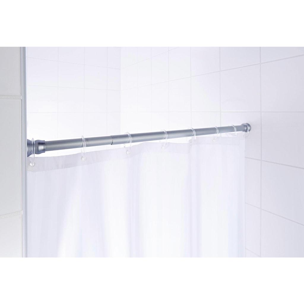 Ridder Federstange »Comfort«, ausziehbar-kürzbar, Teleskopstange für Duschvorhänge, Länge 110-185 cm