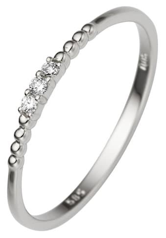 JOBO Diamantring, schmal 585 Weißgold mit 3 Diamanten kaufen