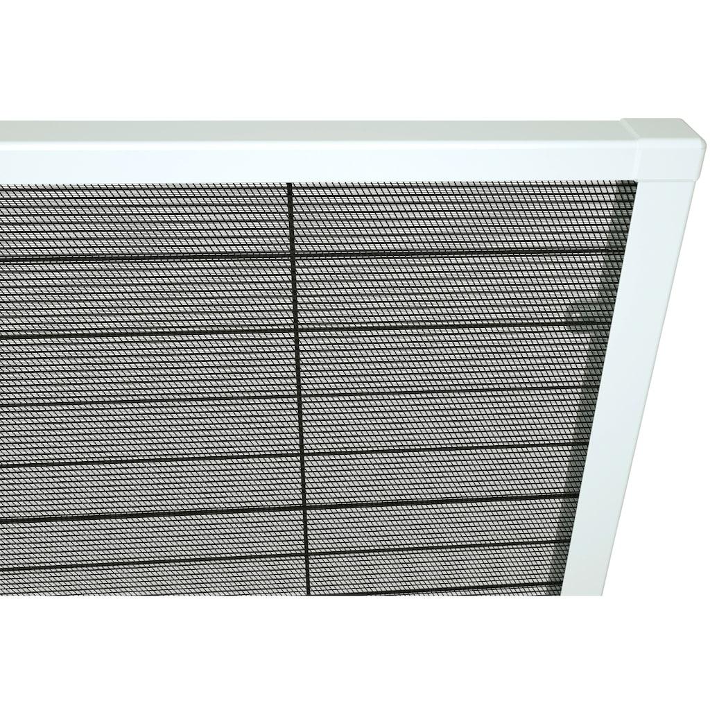 hecht international Insektenschutz-Dachfenster-Rollo, weiß/schwarz, BxH: 160x180 cm