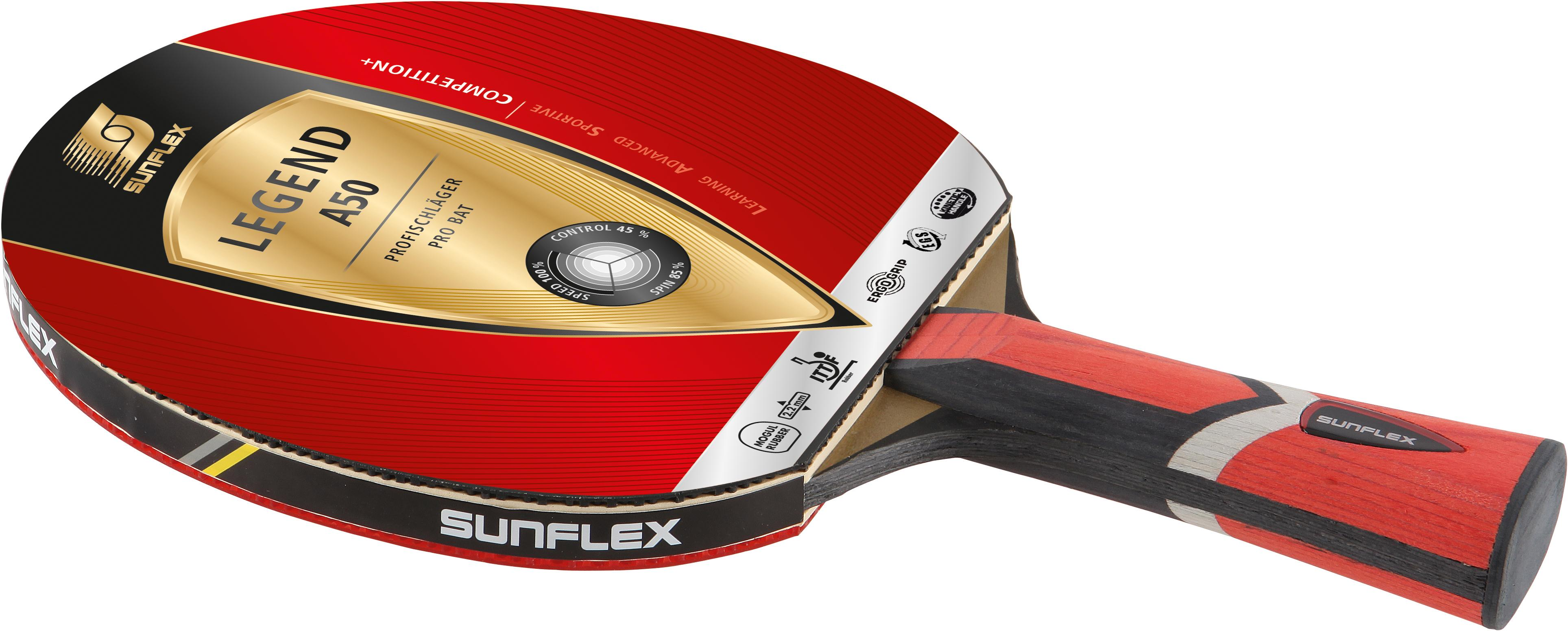 Sunflex Tischtennisschläger LEGEND A50 rot Tischtennis-Ausrüstung Tischtennis Sportarten