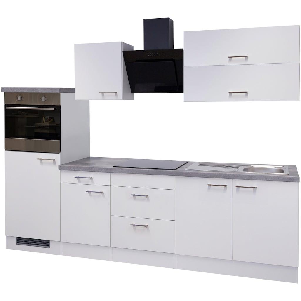 Flex-Well Küchenzeile »Kopenhagen«, mit E-Geräten, Gesamtbreite 270 cm