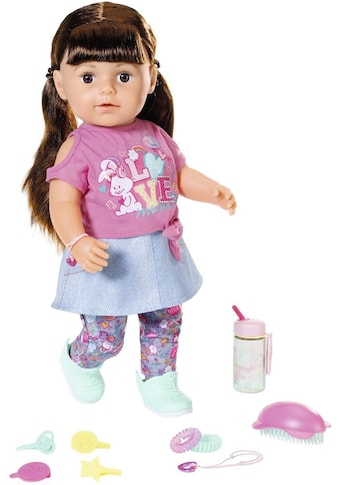 Baby Born Stehpuppe »Soft Touch Sister 43ch, brünett«, interaktiv kaufen