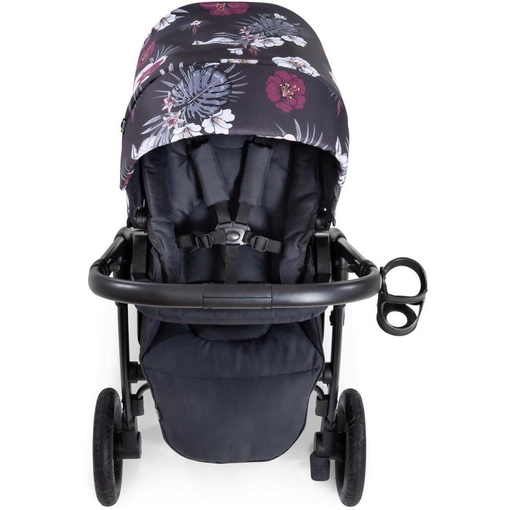 Hauck Sportbuggy »iPro Saturn R, wild blooms black«, inkl. Beindecke; Kinderwagen, Buggy, Sportwagen, Kinder-Buggy, Kinderbuggy, Sport-Kinderwagen