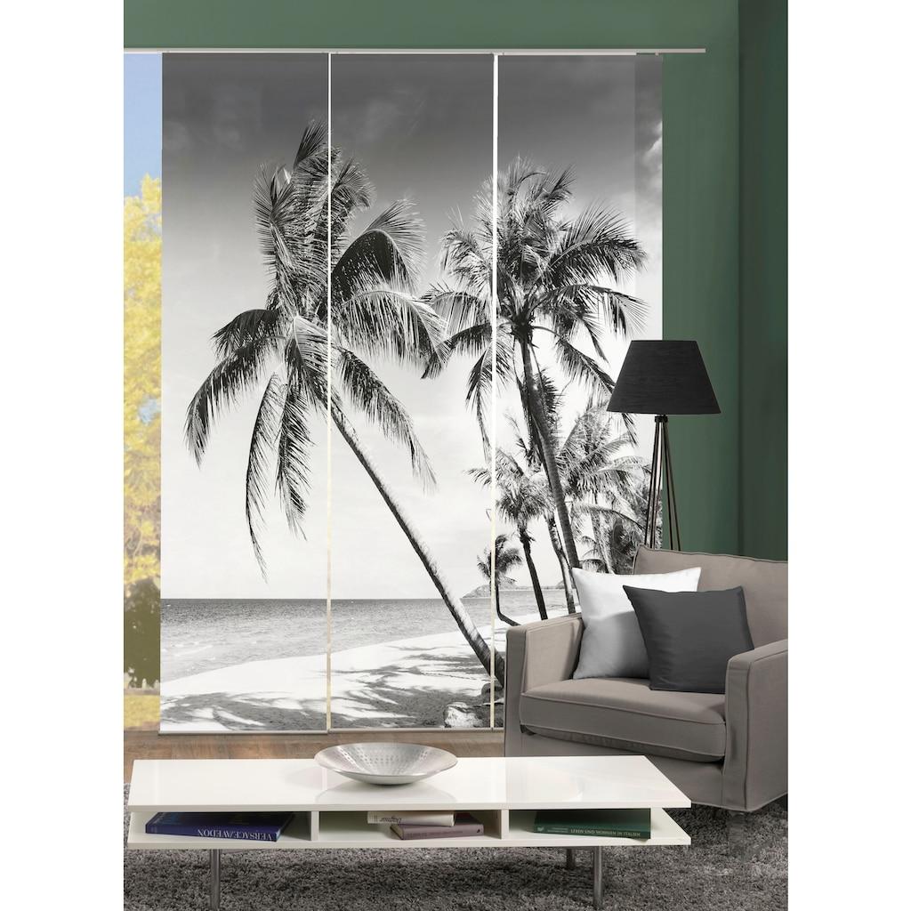 HOME WOHNIDEEN Schiebegardine »PALMIRA«, blickdicht, Digital bedruckt