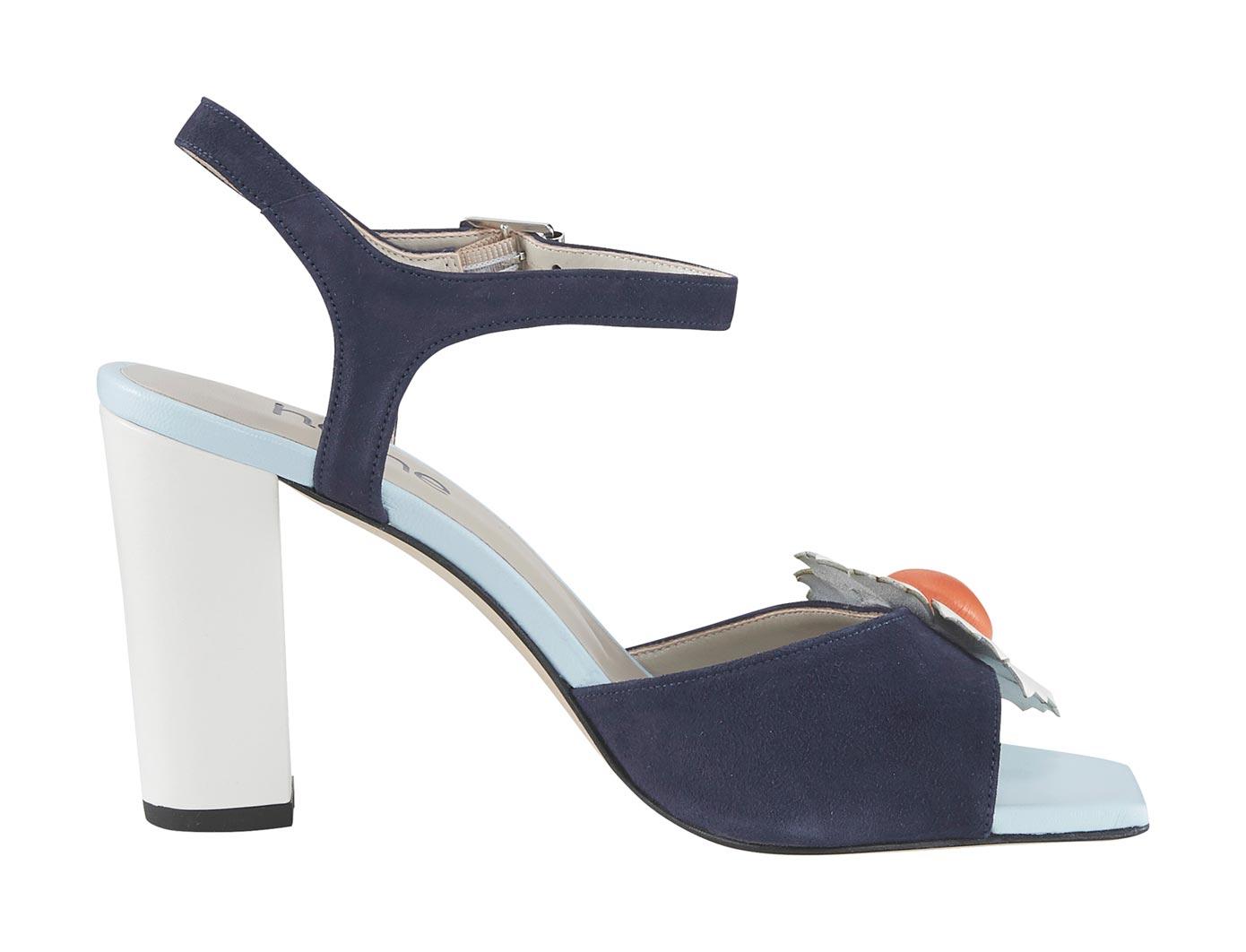 Sandalette blau Damen Sandaletten Sandalen
