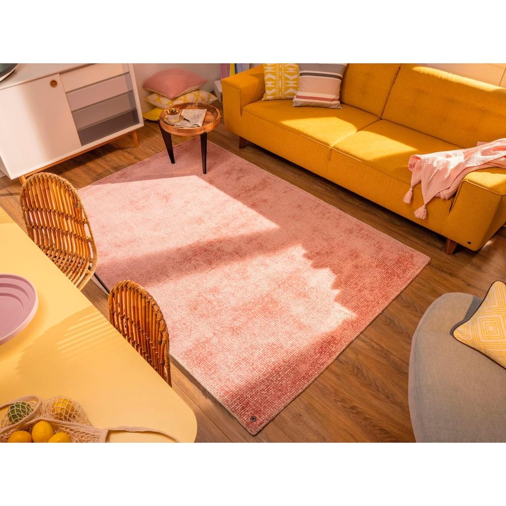 TOM TAILOR Teppich »Groove«, rechteckig, 15 mm Höhe, modernes Design, edles Farbspiel, Wohnzimmer