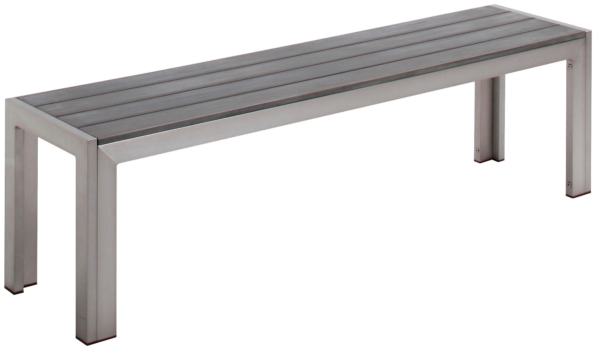 BEST Gartenbank Seattle Aluminium BxTxH: 160x34x45 cm