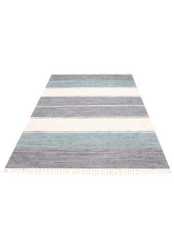 Lüttenhütt Teppich »Paula«, rechteckig, 5 mm Höhe, handgewebt, beidseitig verwendbar,... kaufen