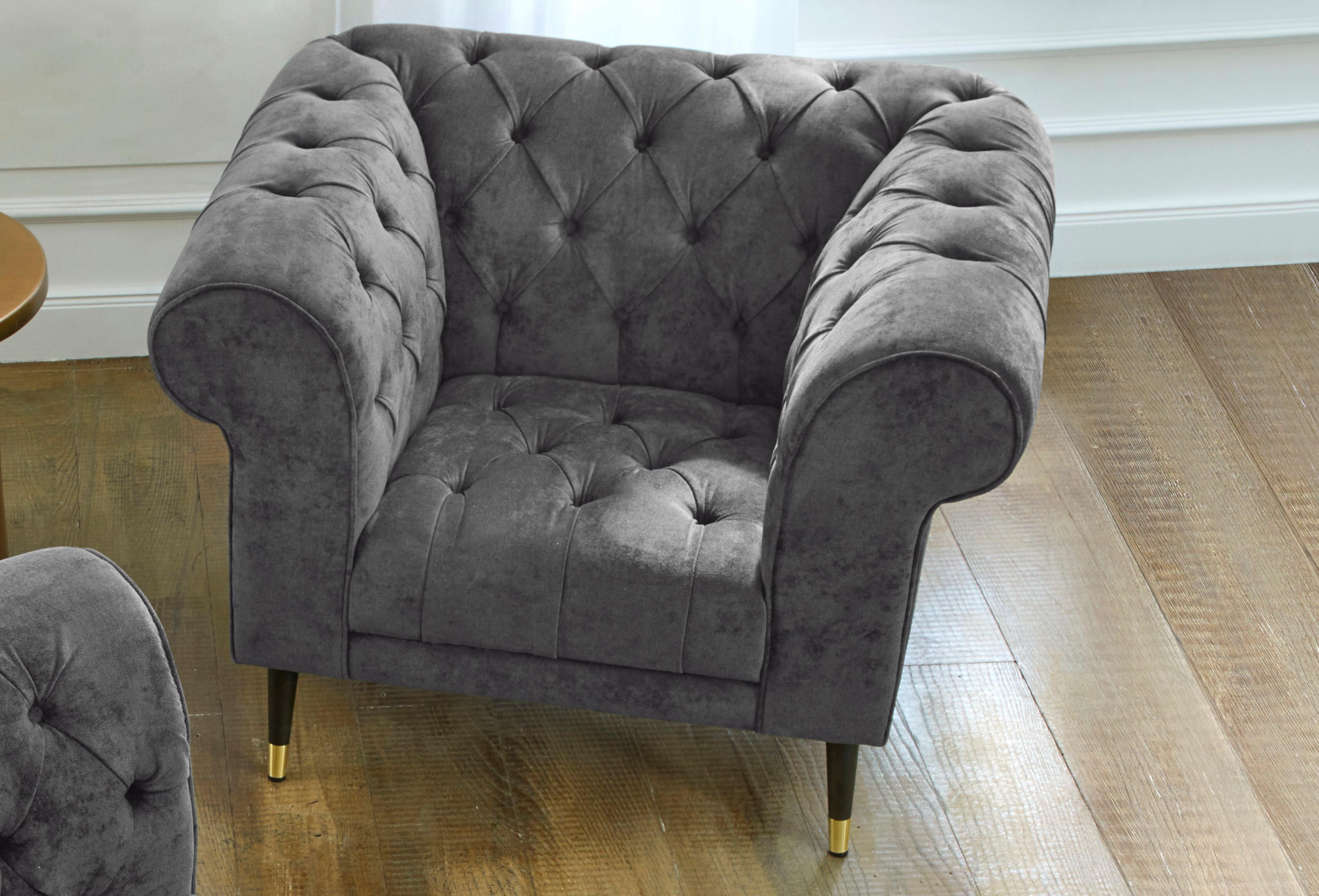 GMK Home & Living Chesterfield Sessel »Tinnum« | Wohnzimmer > Sessel > Chesterfield Sessel | Kunststoff - Microfaser | Guido Maria Kretschmer Home & Living