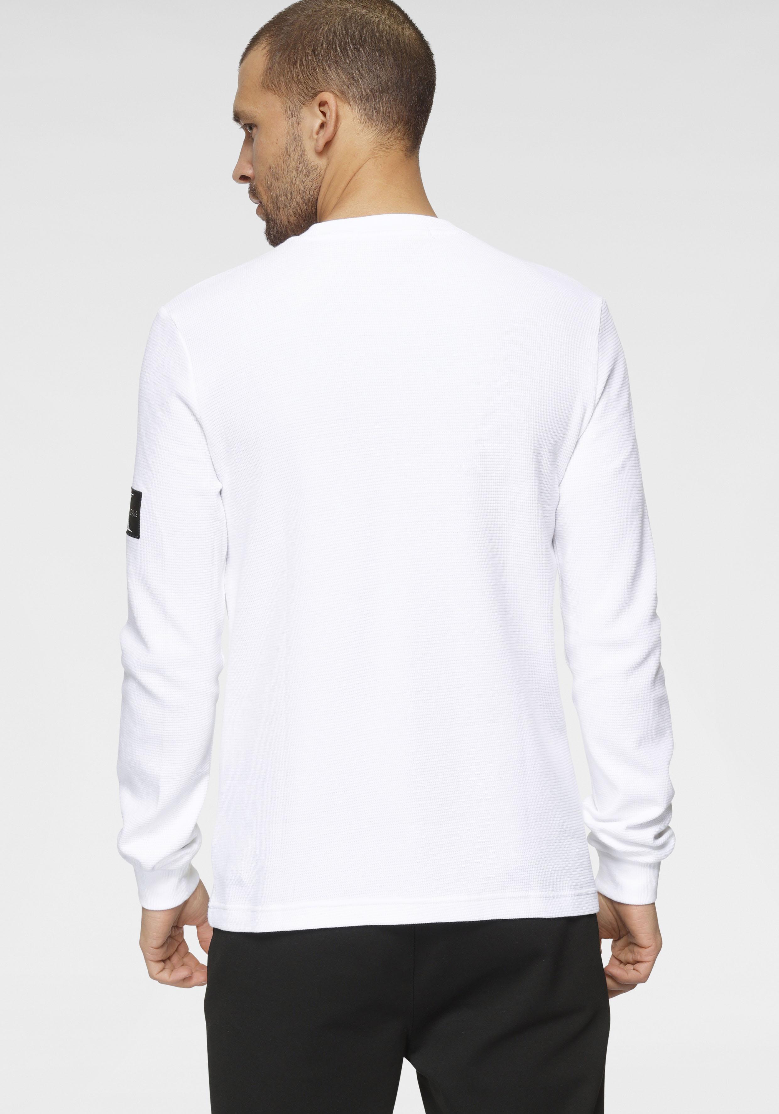 calvin klein jeans -  Langarmshirt MONOGRAM BADGE WAFFLE LS TEE