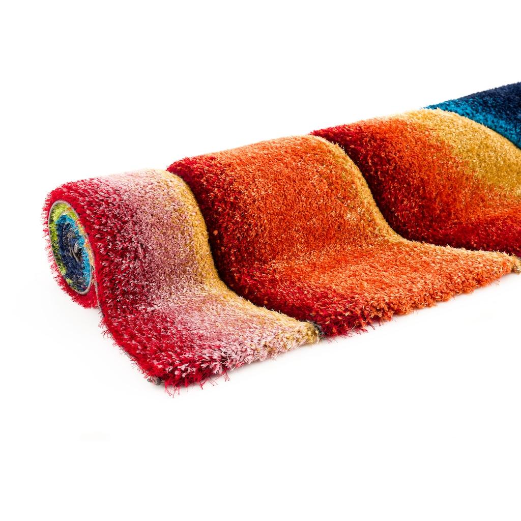 my home Hochflor-Teppich »Baldo«, rechteckig, 43 mm Höhe, mit handgearbeitetem Konturenschnitt, Wohnzimmer