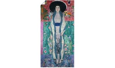 Artland Wandbild »Bildnis Adele Bloch-Bauer II. 1912«, Frau, (1 St.), in vielen Größen & Produktarten - Alubild / Outdoorbild für den Außenbereich, Leinwandbild, Poster, Wandaufkleber / Wandtattoo auch für Badezimmer geeignet kaufen