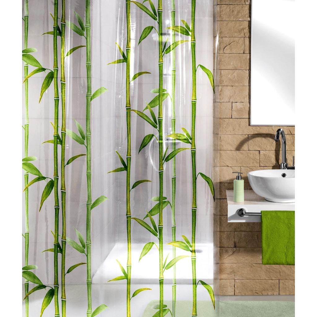 Kleine Wolke Duschvorhang »Bamboo«, Breite 180 cm, Höhe 200 cm