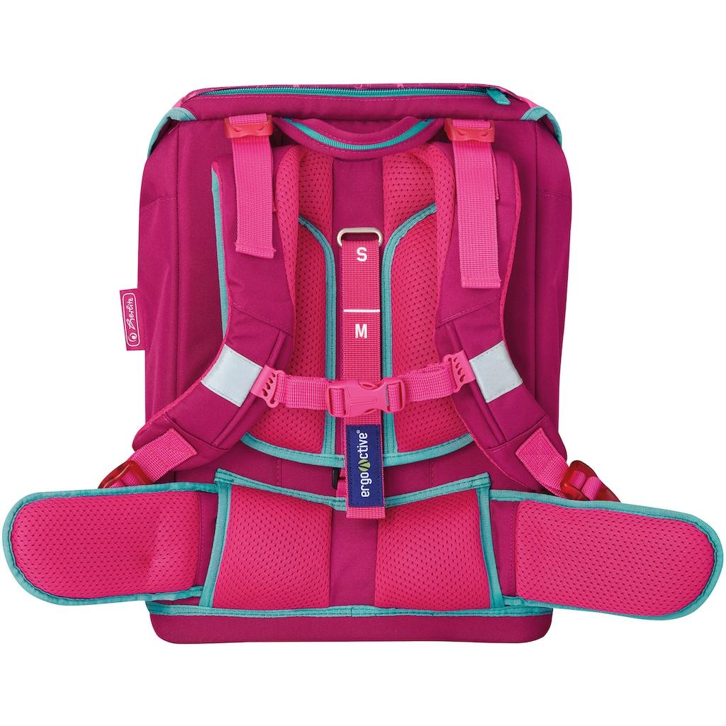Herlitz Schulranzen »Grundschulrucksack SoftFlex Plus Unicorn«, Floureszierende Flächen-reflektierende Streifen auf den Schultergurten