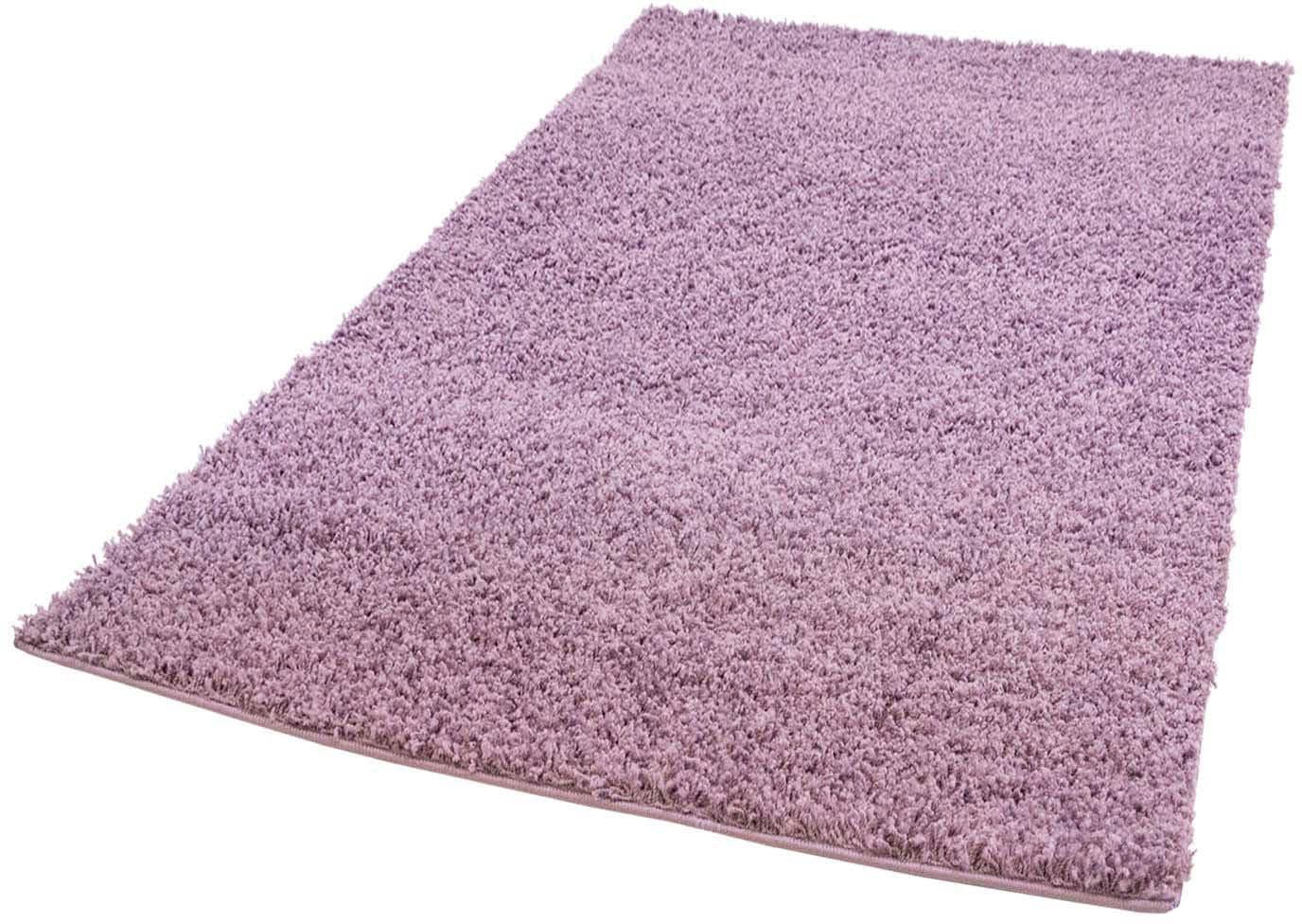 Hochflor-Teppich Pastell Shaggy300 Carpet City rechteckig Höhe 30 mm maschinell gewebt