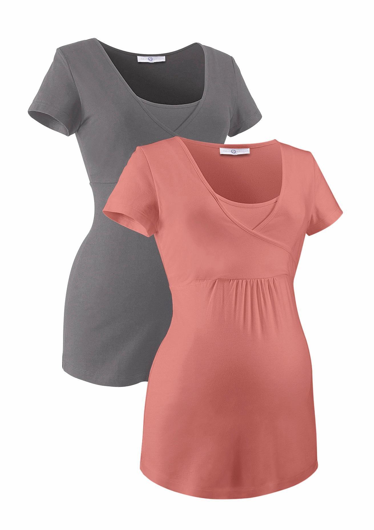 Neun Monate Umstandsshirt (Packung 2 tlg) | Bekleidung > Umstandsmode | Rosa | Neun Monate