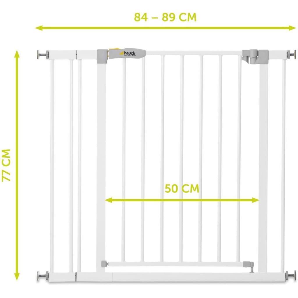 Hauck Türschutzgitter »Stop N Safe 2 incl. 9cm Extensions - weiß«