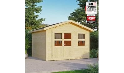 KONIFERA Gartenhaus »Blankenese 4«, BxT: 342x343 cm, inkl. Fußboden kaufen