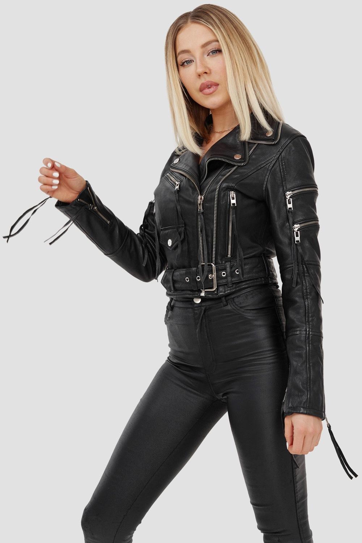 trueprodigy -  Bikerjacke Izzy, mit Reißverschluss und Gürtel