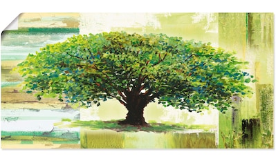 Artland Wandbild »Frühlingsbaum auf abstraktem Hintergrund«, Bäume, (1 St.), in vielen Größen & Produktarten - Alubild / Outdoorbild für den Außenbereich, Leinwandbild, Poster, Wandaufkleber / Wandtattoo auch für Badezimmer geeignet kaufen