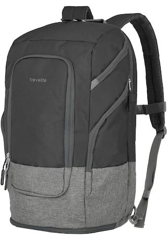 travelite Laptoprucksack »Basics L, 48 cm, schwarz«, Trolley-Aufsteck-System kaufen