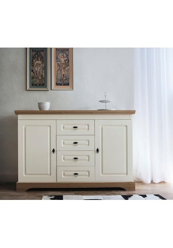 Home affaire Sideboard »Provence«, mit 2 Türen und 4 Schubladen, Breite 137 cm kaufen