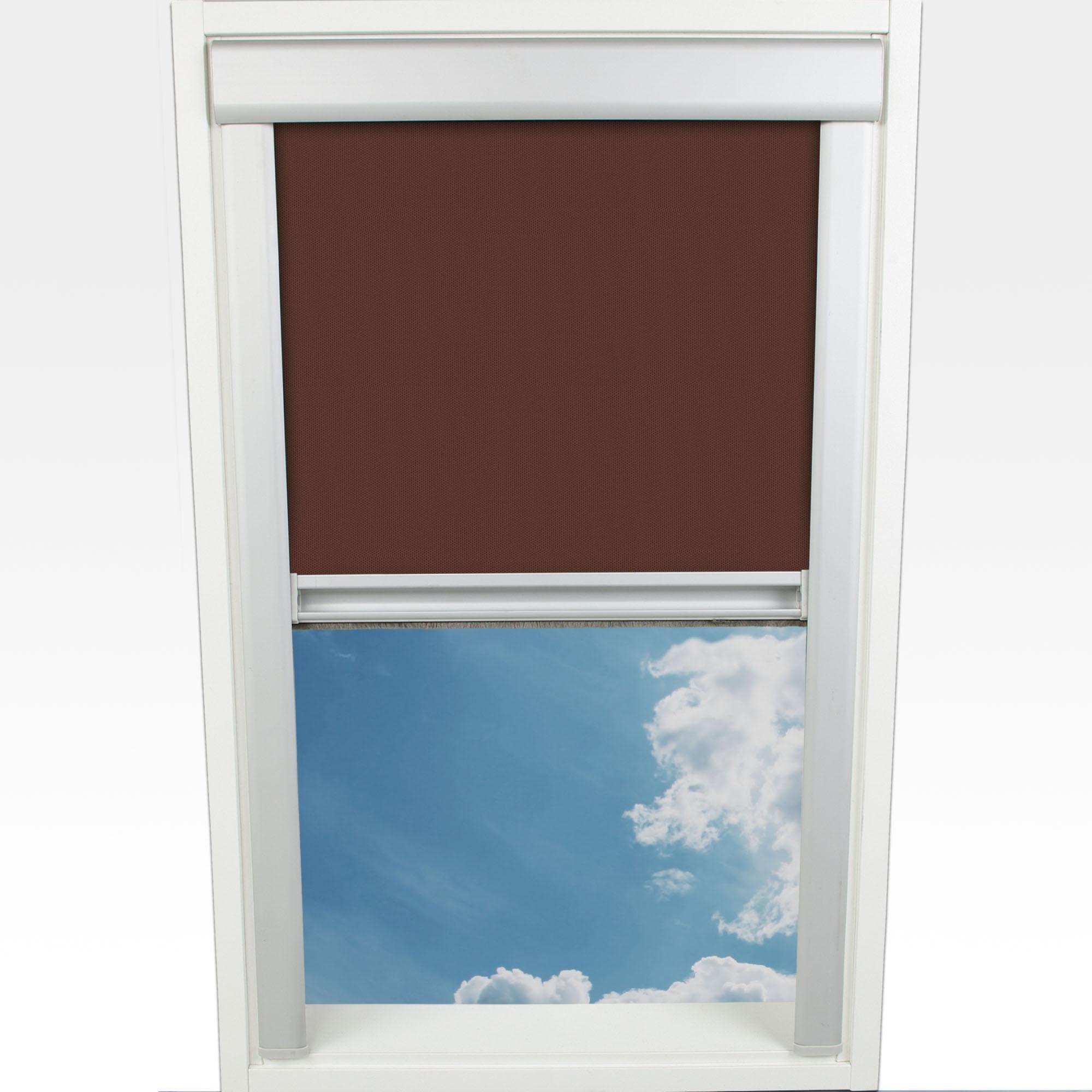 Dachfensterrollo Verdunkelung Liedeco verdunkelnd mit Bohren in Führungsschienen Wohnen/Wohntextilien/Rollos & Jalousien/Rollos/Dachfensterrollos