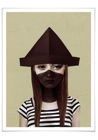 Wall-Art Poster »Frau Sailor Matrose Papierhut«, Gesicht, (1 St.), Poster, Wandbild,... kaufen