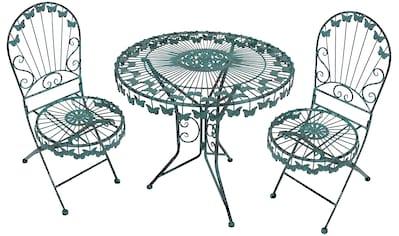 Garden Pleasure Gartenmöbelset »Deko-Balkontischgruppe mit Schmetterling«, (Set, 3... kaufen