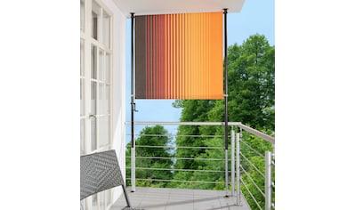 Angerer Freizeitmöbel Klemm-Senkrechtmarkise »Nr. 100«, orange/braun, BxH: 120x225 cm kaufen