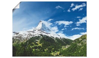 Artland Wandbild »Matterhorn«, Berge, (1 St.), in vielen Größen & Produktarten... kaufen