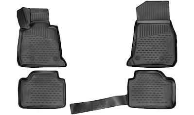 WALSER Passform-Fußmatten »XTR«, BMW, 3, Kombi, (4 St., 2 Vordermatten, 2 Rückmatten),... kaufen
