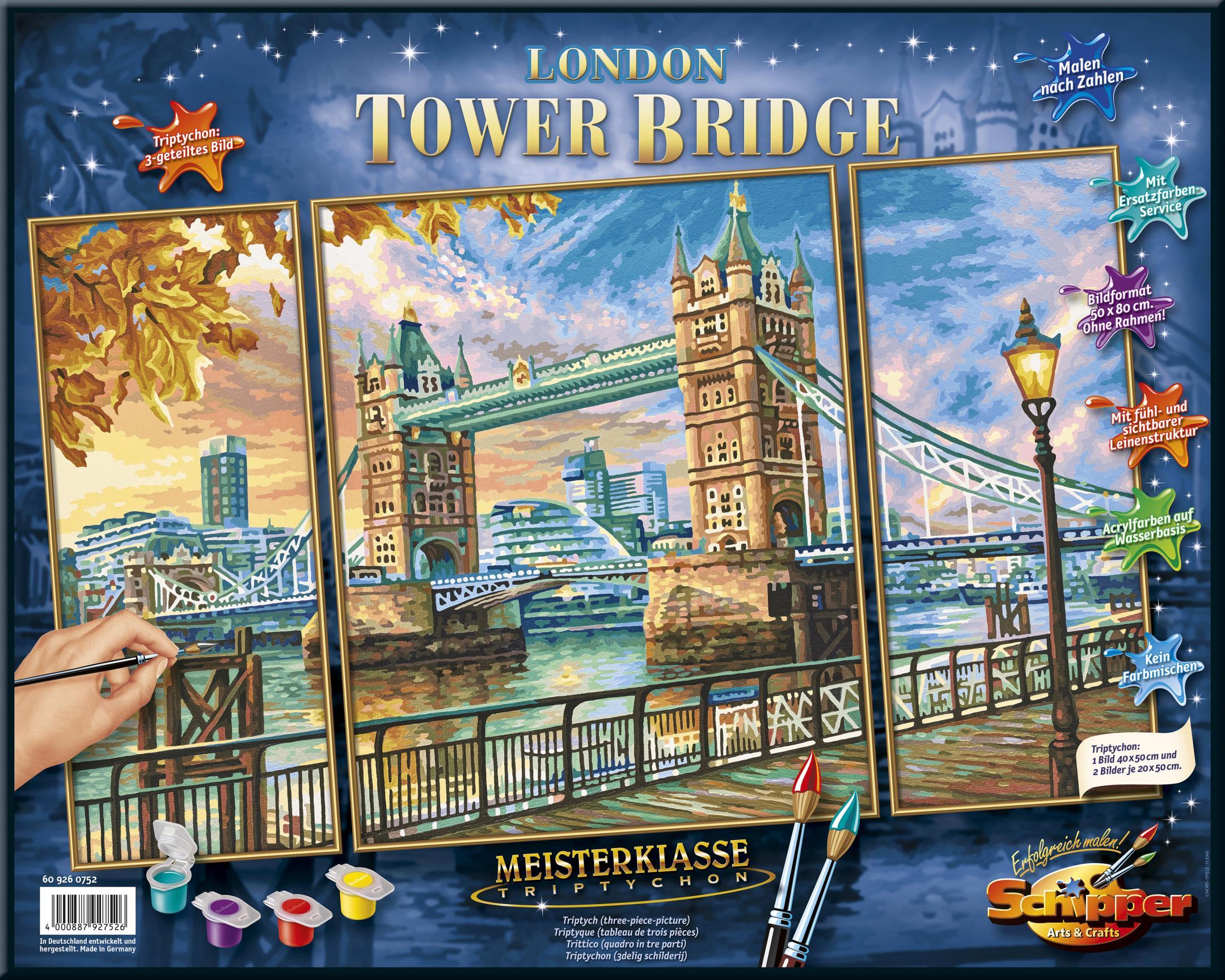 Schipper Malen Nach Zahlen Meisterklasse Triptychon London Tower Bridge Auf Raten