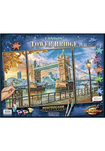 """Schipper Malen nach Zahlen """"Meisterklasse Triptychon, London  -  Tower Bridge"""" kaufen"""