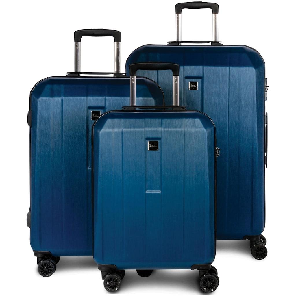fabrizio® Trolleyset »Gateway, blau«, (3 tlg.)