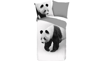 PURE luxury collection Wendebettwäsche »Panda«, mit Pandabären kaufen