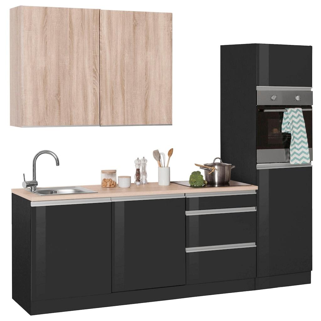 HELD MÖBEL Küchenzeile »Ohio«, ohne E-Geräte, Breite 240 cm