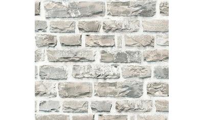living walls Vliestapete »Neue Bude 2.0«, Steinoptik, Naturstein kaufen