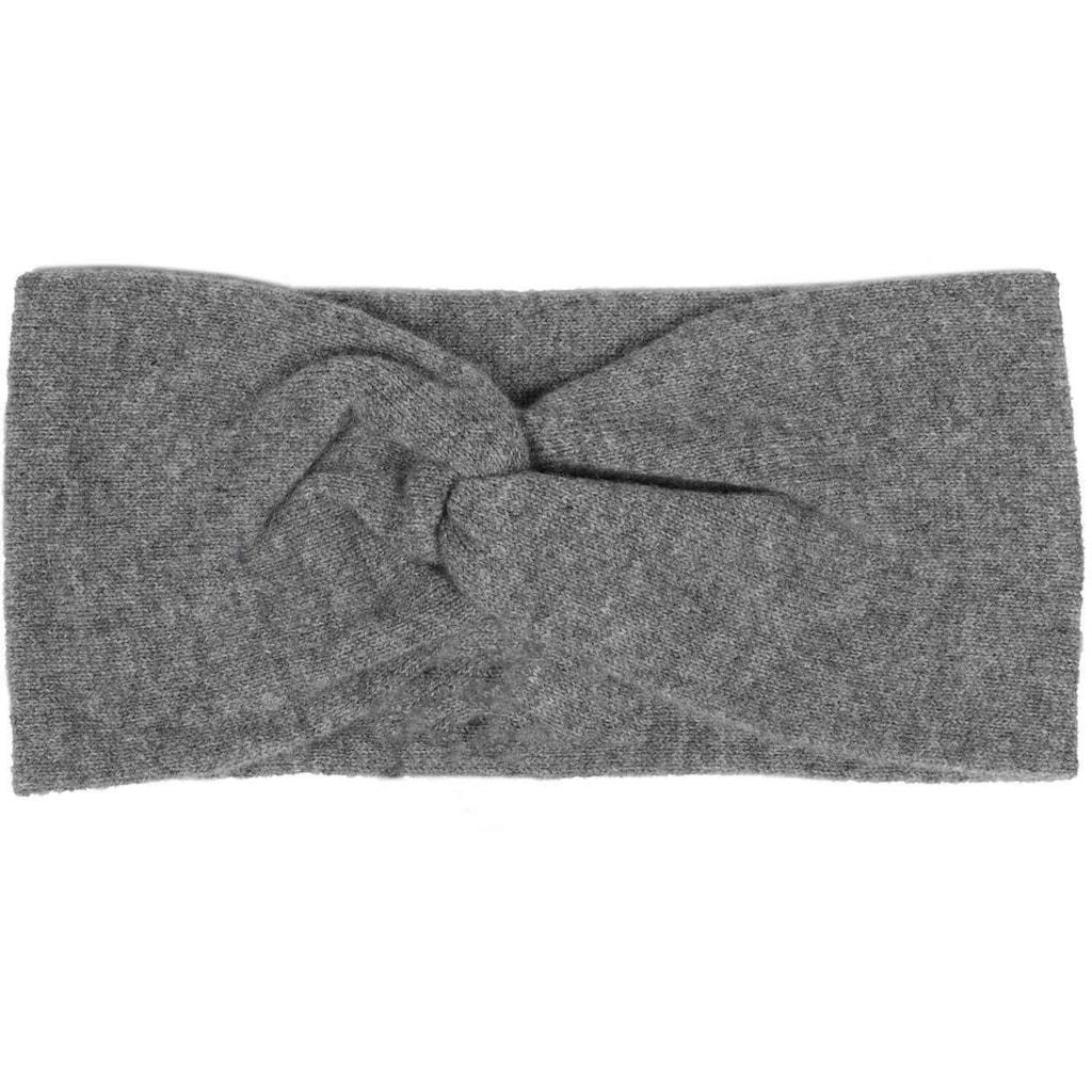 Zwillingsherz Stirnband, Feinstrick, 100% Kaschmir