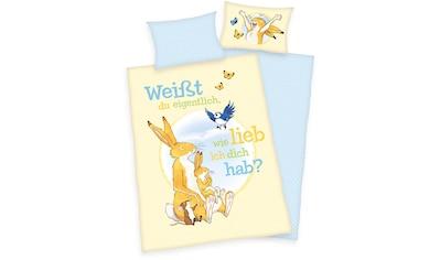 Babybettwäsche »Weißt du eigentlich, wie lieb ich dich hab?«, kaufen