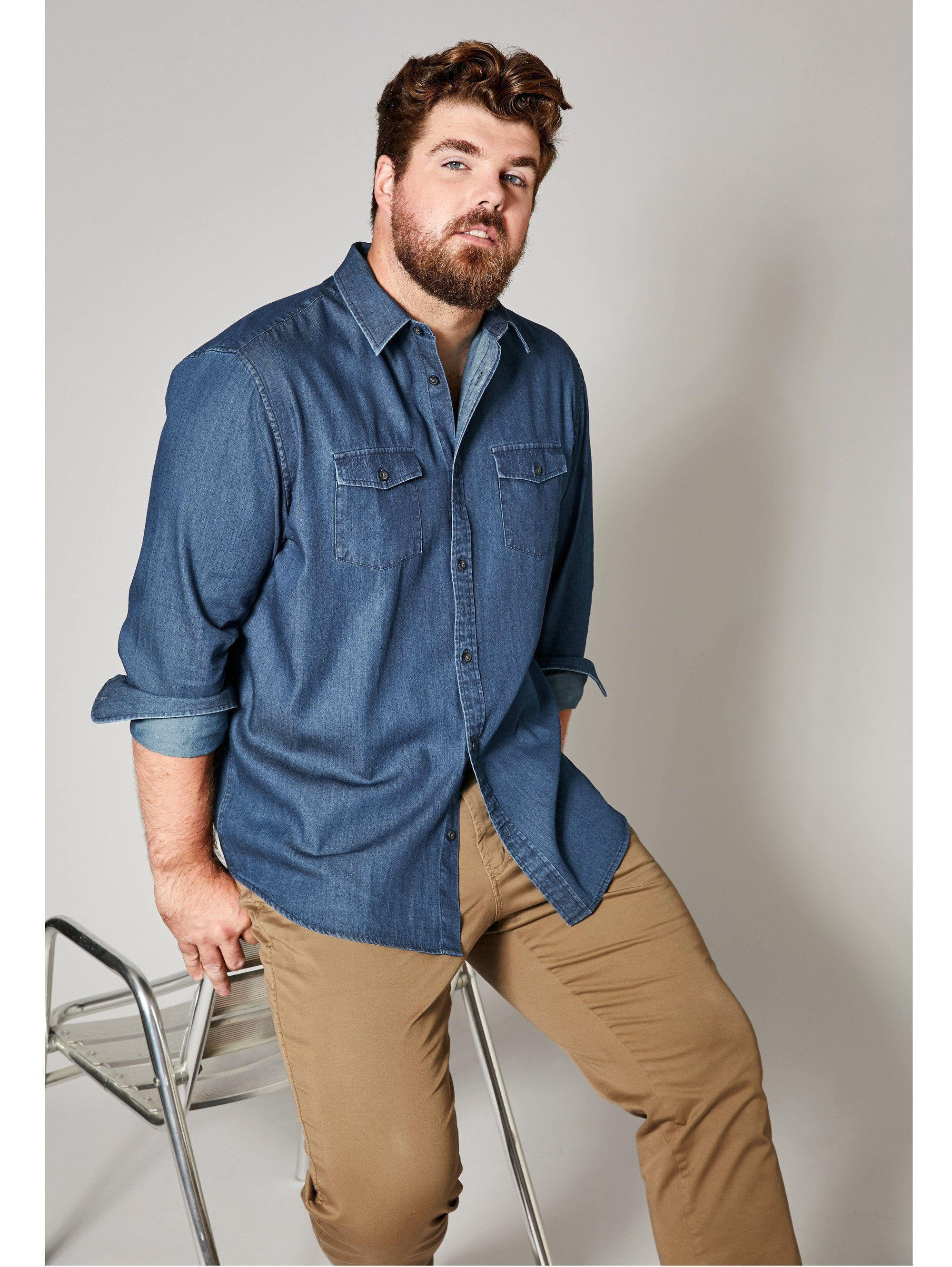 Men Plus by Happy Size Jeanshemd | Bekleidung > Hemden > Jeanshemden | Men Plus By Happy Size